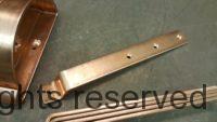 HRRMA Copper Gutter Brackets Hangers for 6 inch Half Round Copper Gutters