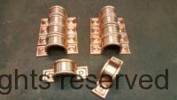 Radmont Radius Copper Downspout Bands for 4 Inch Round Copper Downspouts