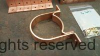 RDS Copper Downspout Brackets for 4 inch Round Copper Downspouts