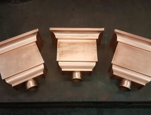 Troubadour Copper Leader Heads Collector Boxes with Scupper Openings