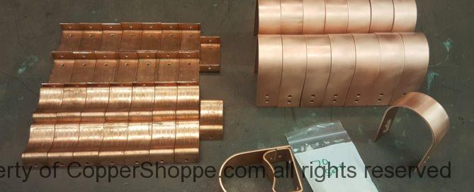 """Varni Copper Downspout Brackets for 3"""" Round Downspouts at a 1-1/2"""" Stand Off"""