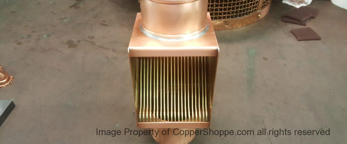 Brasstonian Series AutoClear for 4″ Round Copper Downspouts