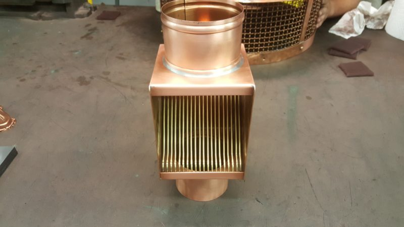 AutoClear Brasstonian Series Copper Downspout Cleanouts Leaf Diverters Filters