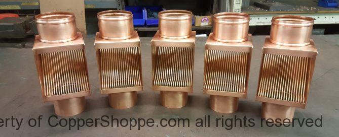 AutoClear I Series Copper Downspout Cleanouts Leaf Diverters Filters