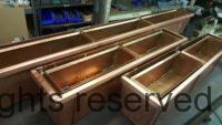 Custom Copper Planter Boxes