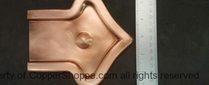 Fleur-di-Lis 2 Ornamental Copper Downspout Band for Large Rectangular downspouts