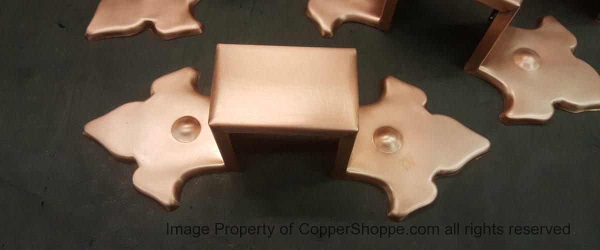 Fluer-de-Lis Ornamental Copper Downspout Bands
