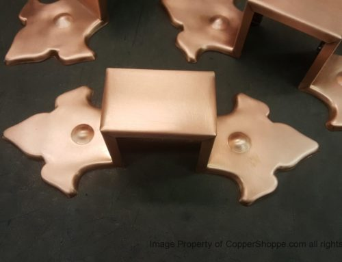 Fluer-de-Lis Ornamental Copper Downspout Bands