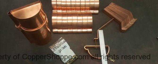 Custom HRRMA Copper Gutter Brackets