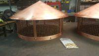 Round Copper Chimney Flue Caps