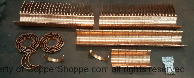 "Side Rider, HRC, and HR Copper Gutter Brackets to fit 6"" Half Round Copper Gutters."