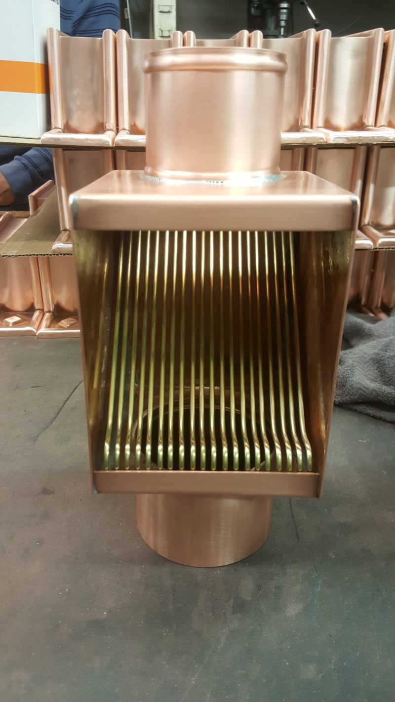 AutoClear Brasstonian Copper Downspout Leaf and Debris Diverter Filter