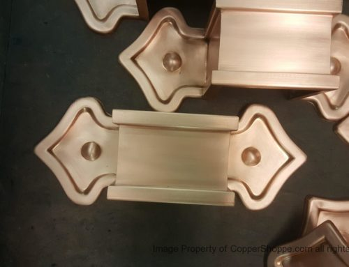 Fleur-de-Lis 2 Ornamental Copper Downspout Bands