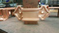 Fleur-de-Lis 2 Ornamental Copper Downspout Bands