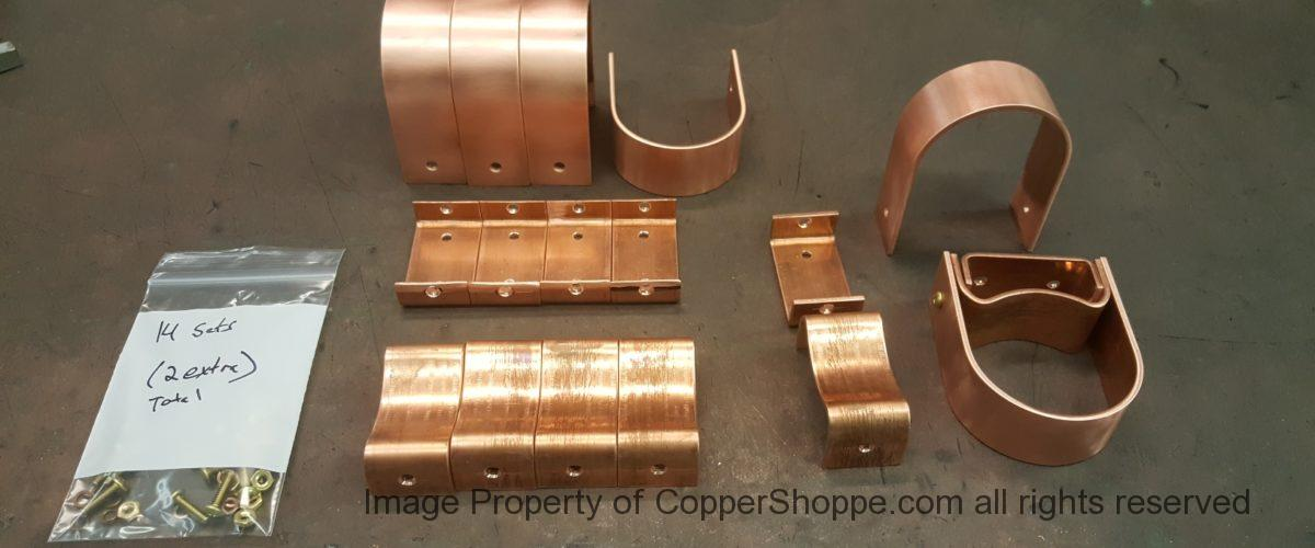 Varni Copper Downspout Brackets