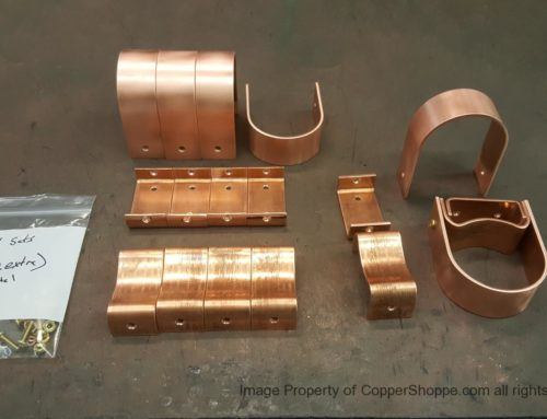 Varni Copper Downspout Brackets