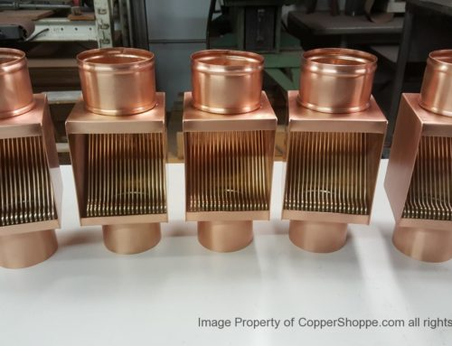 AutoClear I Copper Series Copper Downspout Filters