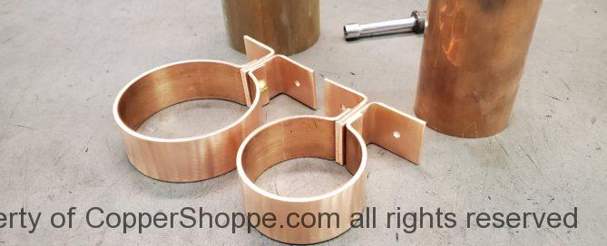 Knoke Copper Downspout Brackets for Architect Approval