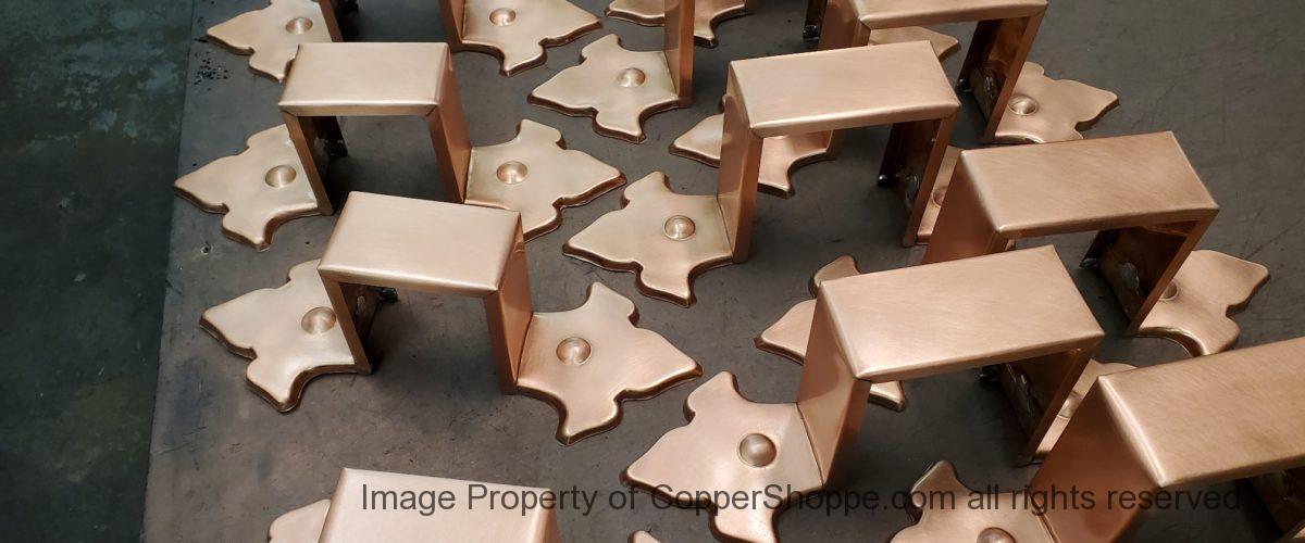 Fleur-di-Lis Ornamental Copper Downspout Bands