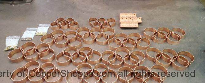 """Knoke Copper Downspout Brackets for 4"""" Round and 3"""" Round Copper Downspouts"""