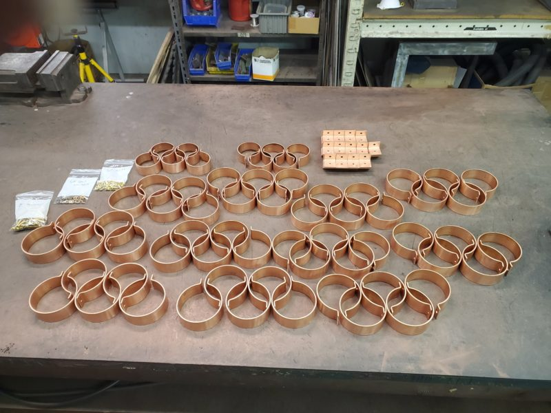 "Knoke Copper Downspout Brackets for 4"" Round and 3"" Round Copper Downspouts"