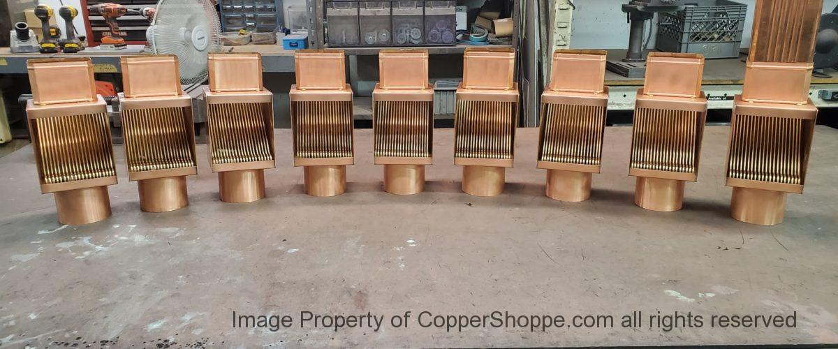 AutoClear I-COPPER Downspout Cleanouts for Rectangular Downspouts