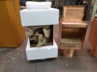 AutoClear Copper I-Series Downspout Clean Outs Diverters Filters for Rectangular Downspouts