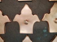 Fleur-di-Lis Ornamental Decorative Copper Downspout Band Ears