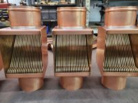 AutoClear Brasstonian Copper Downspout Cleanouts Leaf and Debris Diverters Filters