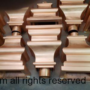 """Old World 10 Copper Leader Heads Collector Boxes for 4"""" Round European Downspouts"""