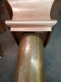 "Old World 10 Copper Leader Heads Collector Boxes for 4"" Round European Downspouts"
