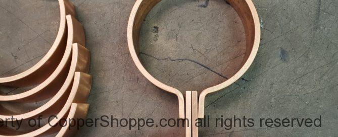 "ZAK Copper Downspout Bracket for 4"" Round Downspouts"