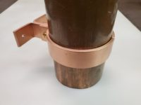 "ZAK Copper Downspout Bracket for 4"" Round Downspouts"