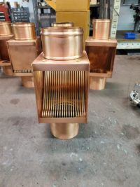 AutoClear I COPPER Series Copper Downspout Leaf and Debris Diverter Filter for project approval