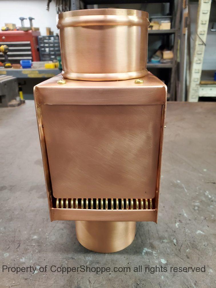 AutoClear I-COPPER series Copper Downspout Cleanouts Leaf and Debris Diverters Filters