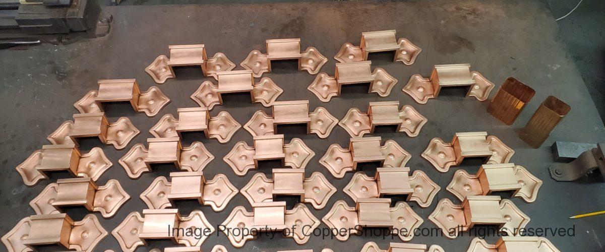 Fleur-di-Lis Ornamental Decorative Copper Downspout Bands Straps