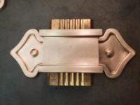 Fleur-de-Lis Ornamental Decorative Copper Downspout Bands Straps