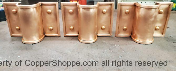 Winthrop Ornamental Copper Downspout Bands Straps Covers