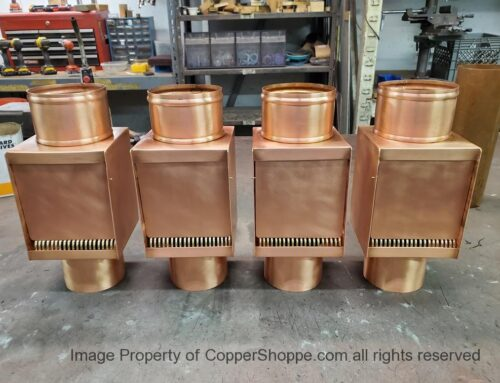 AutoClear I-COPPER series Copper Downspout Cleanouts Leaf and Debris Diverters Filters with Doors