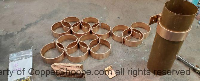 "Knoke Copper Downspout Brackets for 4"" Round Copper Downspouts"