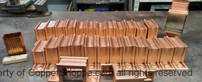 Radmont Ornamental Decorative Copper Downspout Straps and Custom AutoClear Brasstonian