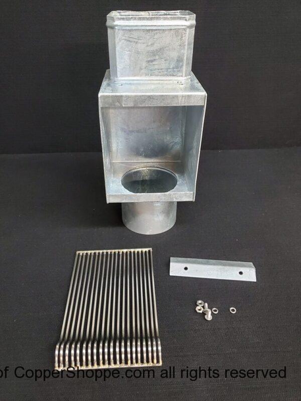 AutoClear I-ZINC Series Leaf and Debris Diverter Downspout Cleanout