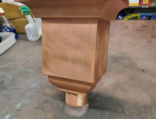 Troubadour Copper Leader Head Collector Box