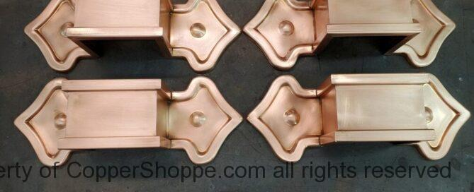 Fleur-di-Lis 2 Ornamental Decorative Copper Downspout Bands Straps Hangers