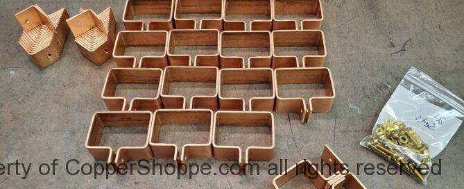 """Knoke Copper Downspout Brackets for 3"""" by 2"""" Downspouts"""