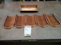 "HR Copper Gutter Brackets for 6"" Half Round Copper Gutters"