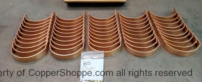 """HR Copper Gutter Brackets for 6"""" Half Round Copper Gutters"""