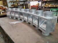 AutoClear Maximus Galvanized Steel Downspout Cleanouts Leaf and Debris Diverters Filters