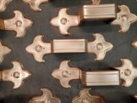 Fleur-de-Lis 3 Ornamental Decorative Copper Downspout Bands