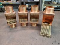AutoClear I-COPPER Series Downspout Leaf and Debris Diverters Filters Screens with Soldered in Place Diverter Plates